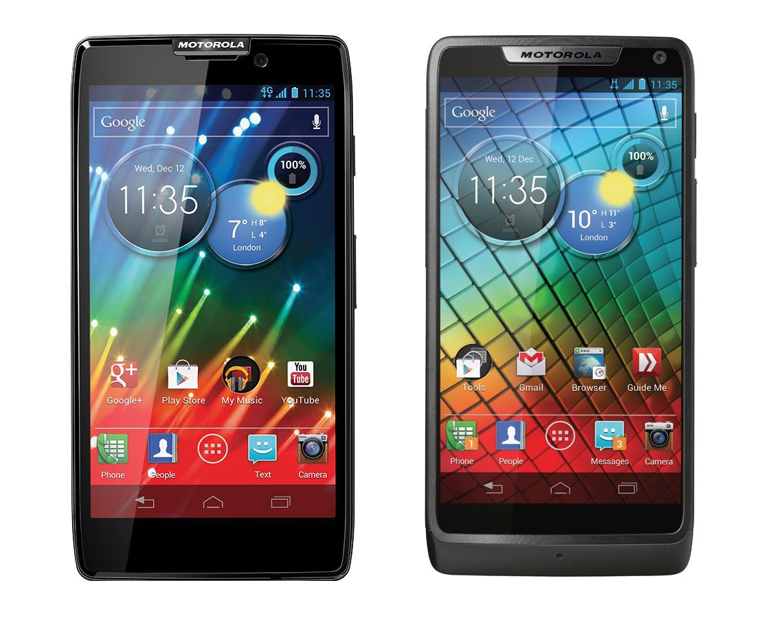 Razr HD e Razr i são os novos aparelhos da Motorola com Android 4.1 (Foto: Divulgação)