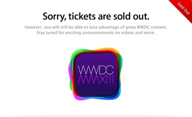 Os ingressos para a WWDC 2013 acabaram em poucos minutos (Foto: Reprodução)