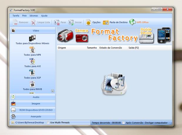 1 acessando o formatfactory