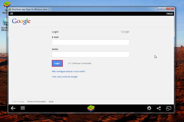 """Logue-se novamente em sua conta do Google Clique no botão 'Proceed"""" (Foto: Reprodução/Thiago Bittencourt)"""