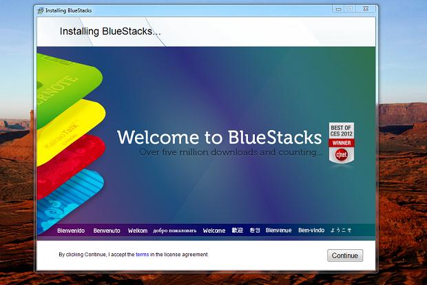 Inicie a instalação do BlueStacks (Foto: Reprodução/Thiago Bittencourt)