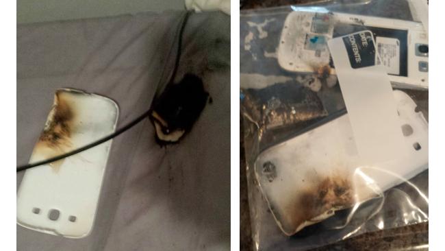 Galaxy S3 pega fogo de madrugada e queima usuário do Reddit. (Foto: Reprodução / Intomobile)