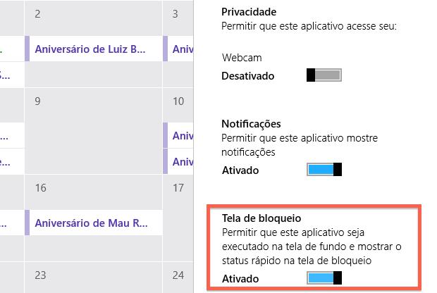 Configurando notificações na tela de bloqueio (Foto: Reprodução/Helito Bijora)