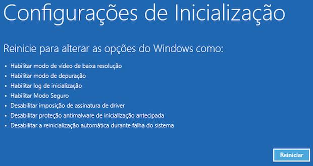 Inicialização avançada do Windows 8 (Foto: Reprodução/Helito Bijora)