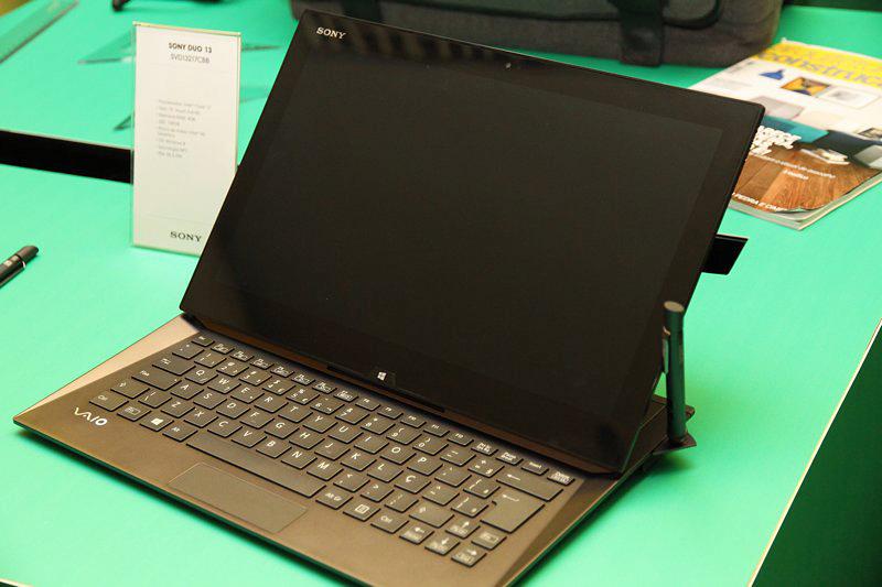 Duo 13, híbrido da Sony: ultrabook ou tablet? (Foto: TechTudo / Fabrício Vitorino)