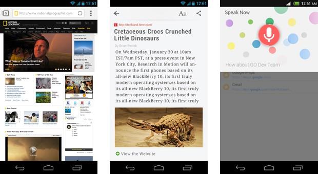 Next Browser reúne recursos de navegadores populares do Android (foto: Divulgação)