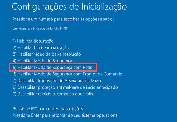 Modo de segurança no Windows 8 (Foto: Reprodução/Helito Bijora)