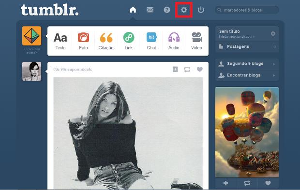 Página inicial do Tumblr (Foto: Reprodução/Lívia Dâmaso)