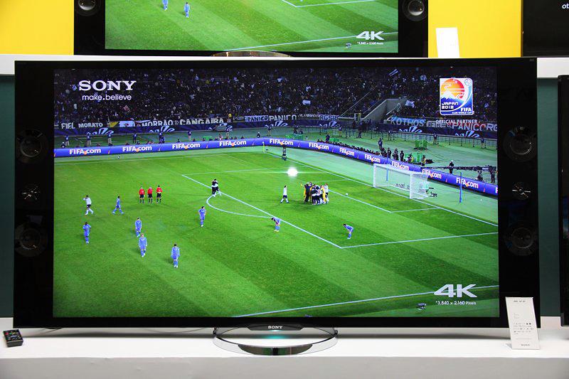TV 4K da Sony em demonstração (Foto: TechTudo / Fabrício Vitorino)