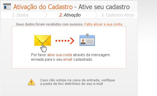 Ative seu cadastro pelo link recebido em seu e-mail (Foto: TechTudo)