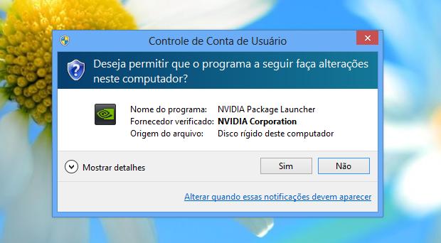 Alerta do UAC do Windows 8 (Foto: Reprodução/Helito Bijora)