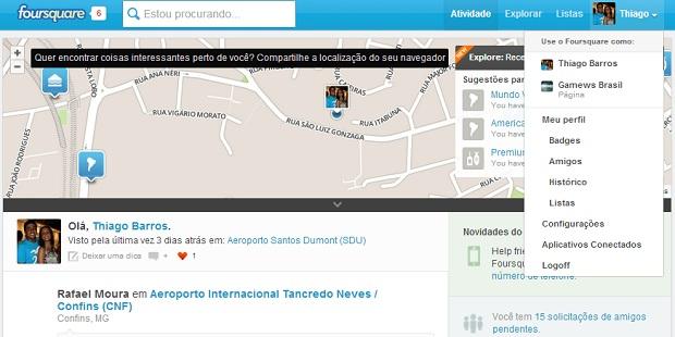 Abra o menu de configurações do lado direito (Foto: Reprodução/Thiago Barros)