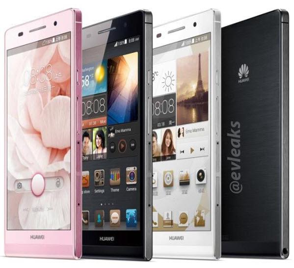 O Huawei Ascend P6 chega para ocupar o posto de smartphone mais fino do mundo (Foto: Reprodução/@evleaks)
