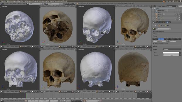 Técnicas permitem a reconstrução de faces em 3D usando software livre (foto: DIvulgação)