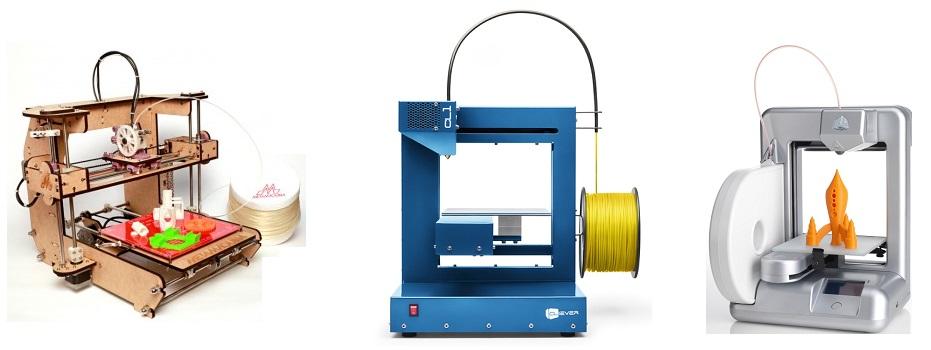 Modelos Matemáquina, Cliever CL1 e Cube são opções de impressoras 3D para residência (Foto: Divulgação)