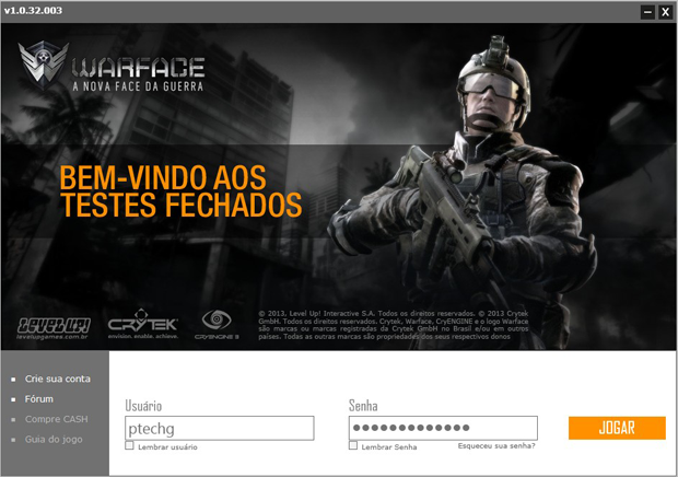 Iniciando no Warface (Foto: TechTudo)