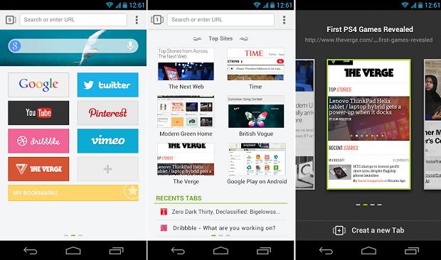 Next é um browser de qualidade para o Android (Foto: Divulgação)