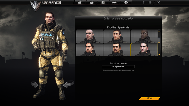 Defina o visual do seu Personagem no Warface (Foto: TechTudo)