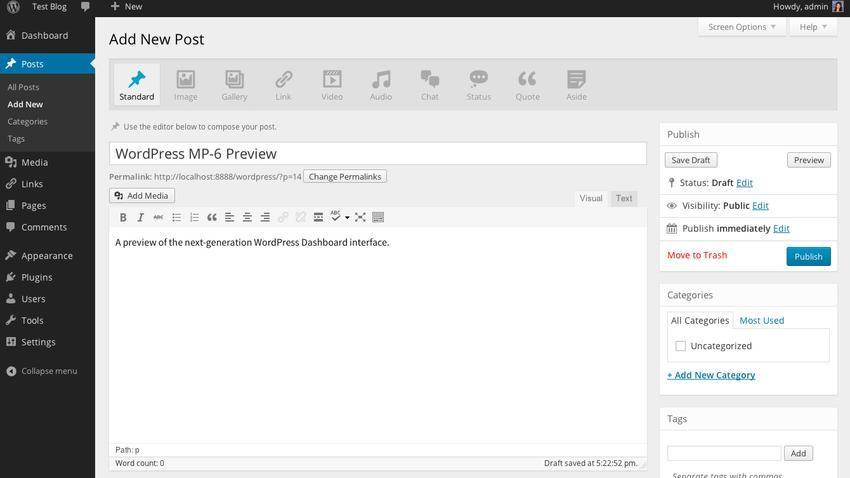 Próxima versão da plafatorma de blogs deve ter interface mais escura e ainda mais definida (Foto: Reprodução/Mashable)