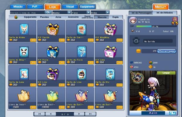 Comprando mascotes na Loja (Foto: Reprodução / Thiago Galiaço)