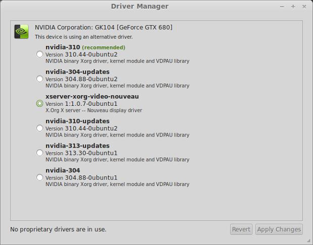 MintDrivers, o novo gerenciador de drivers do Mint (Foto: Reprodução/WebUpd8)