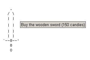A espada de madeira dá o pontapé inicial ao jogo (Foto: Reprodução)