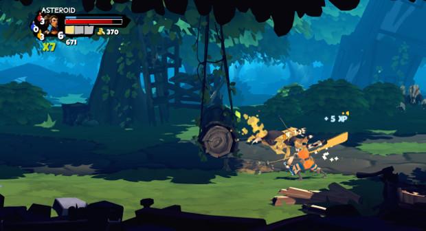Objetos do cenário ajudam a derrotar os inimigos (Foto: Reprodução / Dario Coutinho)