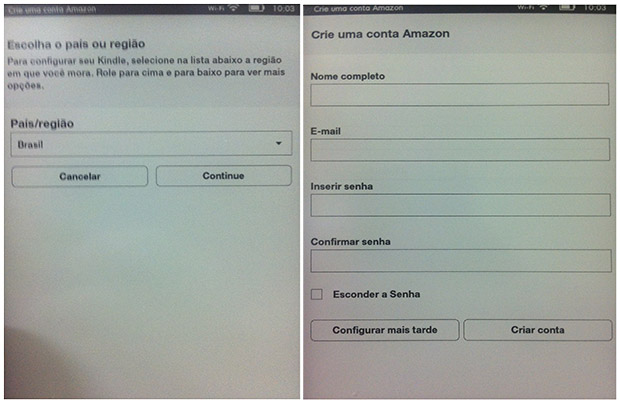Para criar uma nova conta, escolha a região e preencha os campos de cadastro (Imagem: Reprodução / Daniel Pinto)