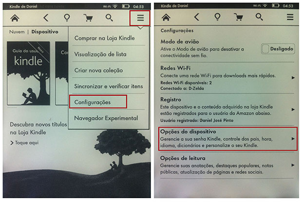 O menu de configurações é acessível pelo ícone na parte superior direita (Imagem: Reprodução / Daniel Pinto)