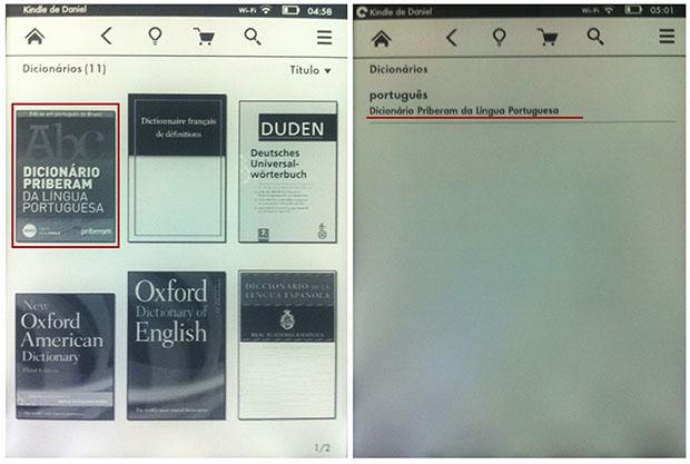 Dentre os dicionários, escolha o 'Priberam' para utilizar com livros em Português (Imagem: Reprodução / Daniel Pinto)