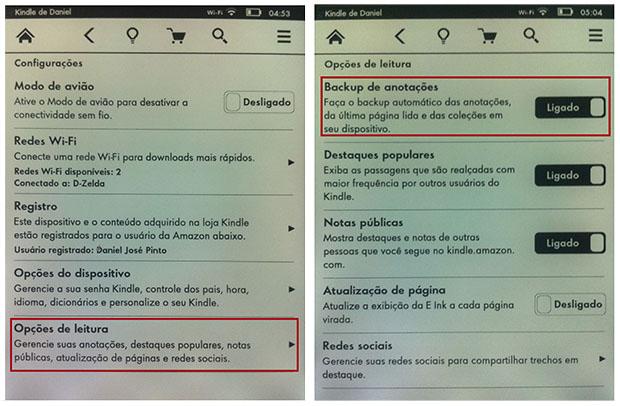 Para ver suas anotações em qualquer lugar, é só ativar o 'Backup de anotações' (Imagem: Reprodução / Daniel Pinto)