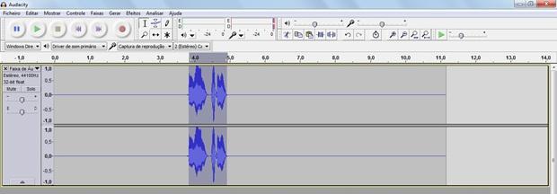Trecho do áudio selecionado (Foto: Reprodução/Raquel Freire)
