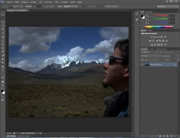 Imagem que receberá a edição aberta no Photoshop (Foto: Reprodução/Daniel Ribeiro)