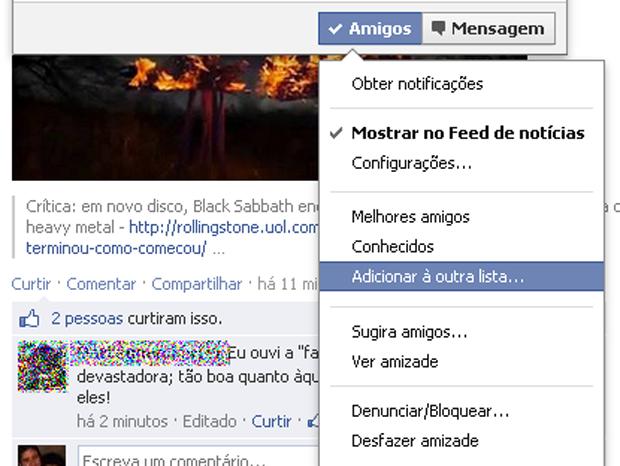 Criando novas listas no Facebook (foto: Reprodução/João Kurtz)