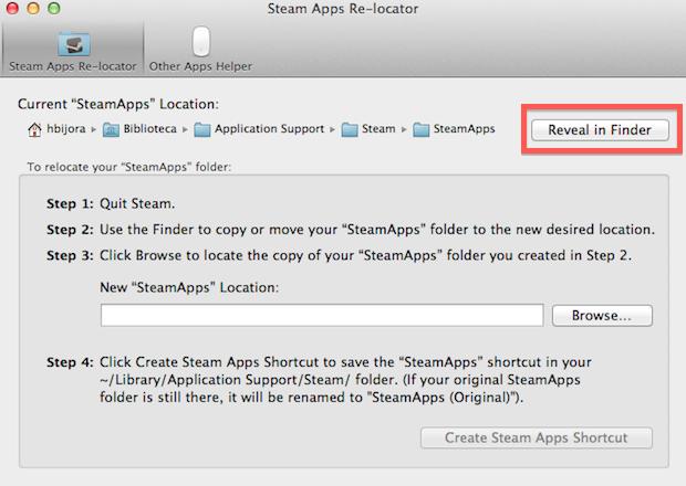 Steam Apps Re-locator (Foto: Reprodução/Helito Bijora)