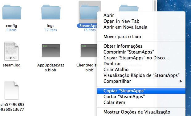 Copiando pasta de aplicativos do Steam (Foto: Reprodução/Helito Bijora)