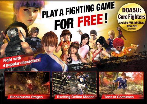 Dead or Alive 5 terá versão grátis com quatro lutadores (Foto: Divulgação)