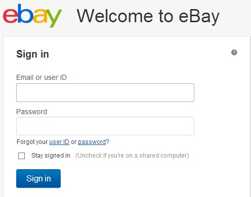 Entrando na sua página do eBay (Foto: Reprodução)