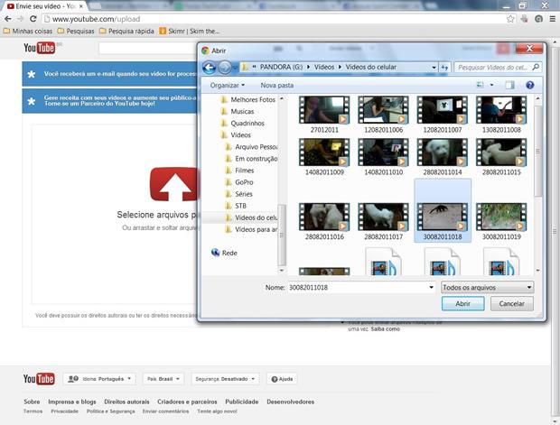 """Escolha o arquivo e clique no botão """"Abrir"""" (Foto: Reprodução/ Daniel Ribeiro)"""