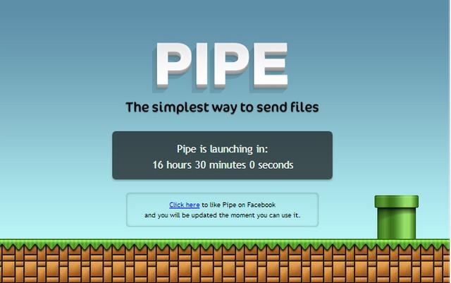 Pipe, app que permite transferência de arquivos pelo Facebook será lançado amanhã. (Foto: Reprodução / Ubergizmo)