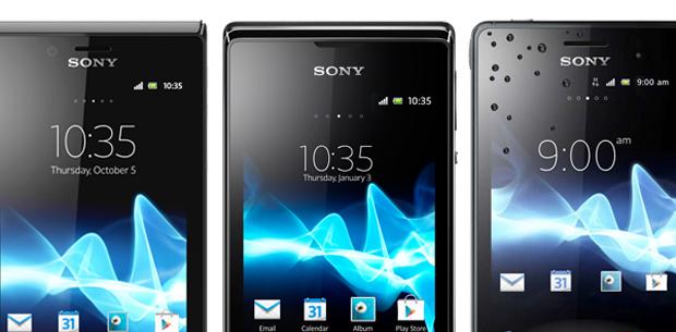 Xperia J, E Dual e Go são os modelos baratos da Sony lançados em 2013 (Foto: Divulgação)