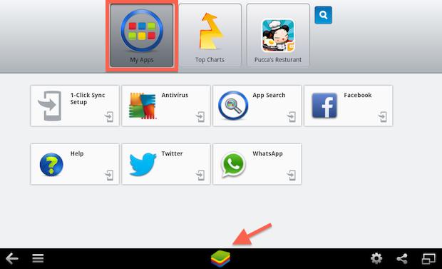Whatsapp para pc - Clique em My Apps