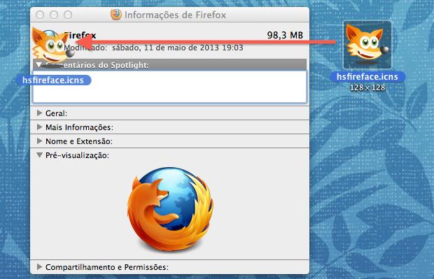Alterando ícone do Firefox (Foto: Reprodução/Helito Bijora)