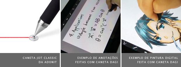 Imagens de canetas para tablets com telas capacitivas (Foto: Reprodução)