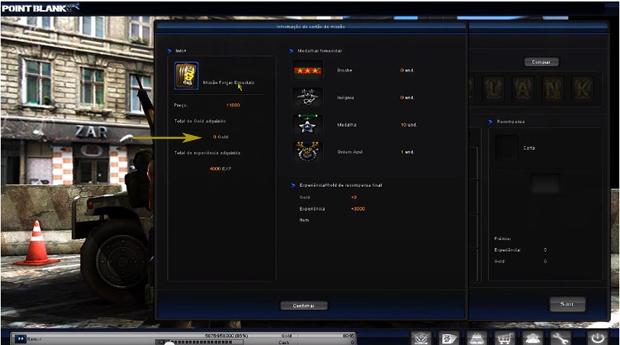 Cadas missão ganha uma quantidade de GOLD em Point Blank (Foto: Youtube)