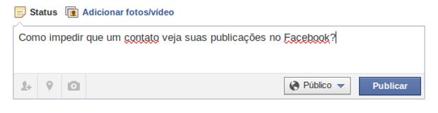 Como impedir que um contato veja suas publicações no Facebook (foto: Reprodução/João Kurtz) (Foto: Como impedir que um contato veja suas publicações no Facebook (foto: Reprodução/João Kurtz))
