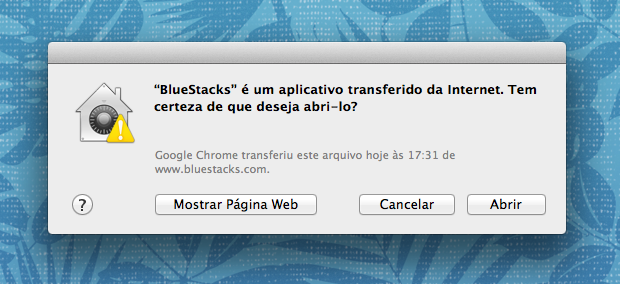 Alerta de segurança do OS X (Foto: Reprodução/Helito Bijora)