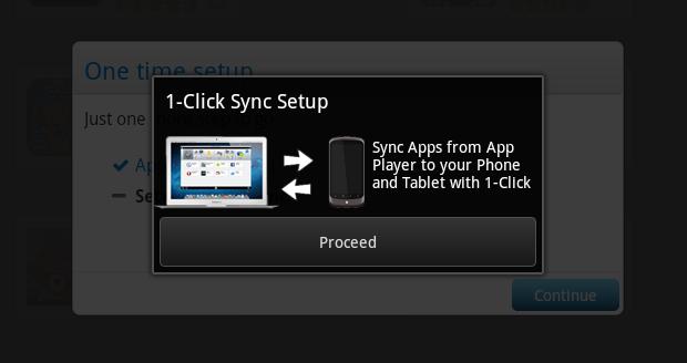 Ativando sincronização com o telefone (Foto: Reprodução/Helito Bijora)