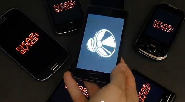 S-Contact é o primeiro app a usar a tecnologia Nearbytes, que transfere dados por som (Foto: Reproduçã/YouTube)