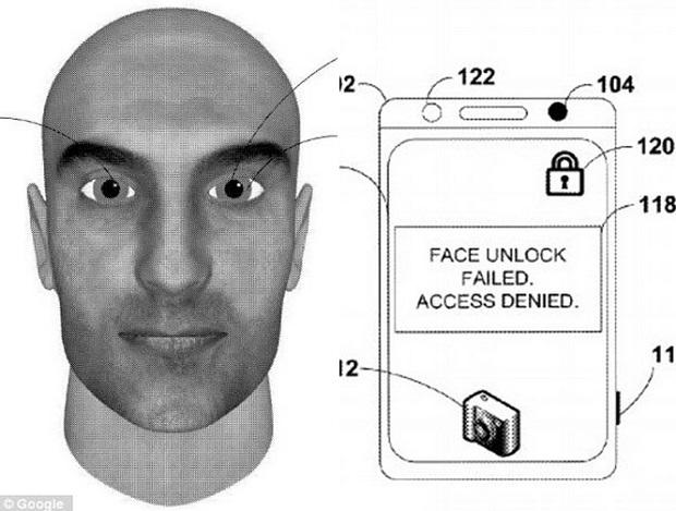 Patente revela possível novo facelock do Android (Foto: Reprodução Daily Mail)